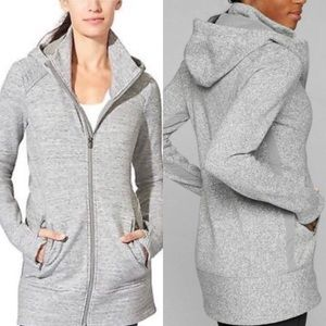 Athleta CYA Stronger Hoodie Gray Heathered XS EUC